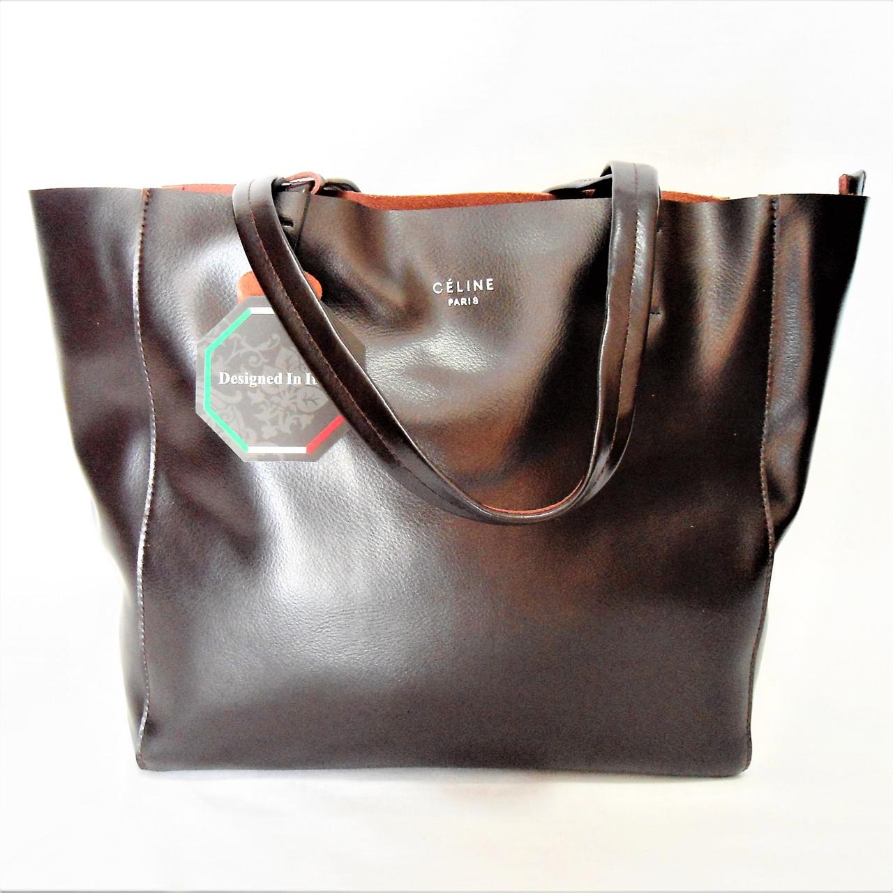 5a941ca0b9d7 Женская сумка CELINE кожа коричневого цвета TМT-400900  купить недорого