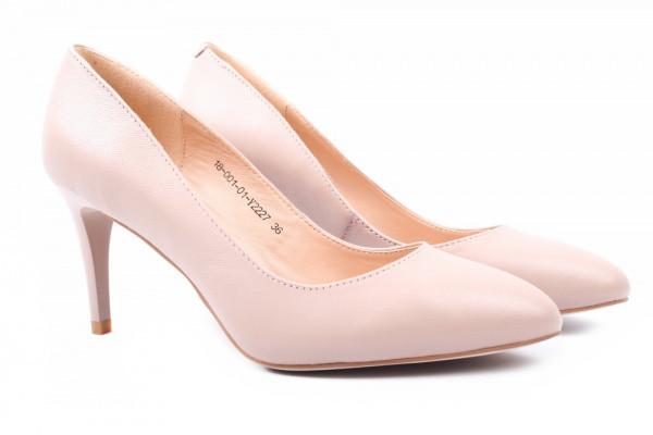 Туфли женские на шпильке из натуральной кожи, бежевые Djovannia (38р)