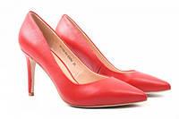 Туфли женские на шпильке из натуральной кожи, красные Djovannia (37р)