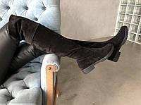 Ботфорты из натуральной черной замши №387-9, фото 1