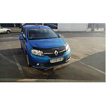 Дефлектор капота, мухобойка Renault Sandero 2014- VIP