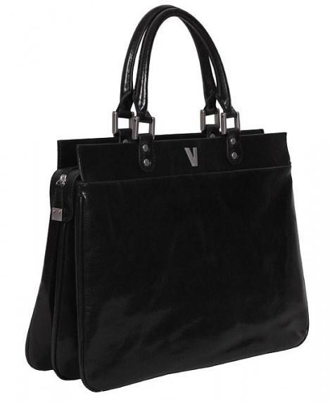 613d71b51c9f Женская кожаная деловая сумка-портфель Vip Collection Y 48112 Black  Y.48112.A