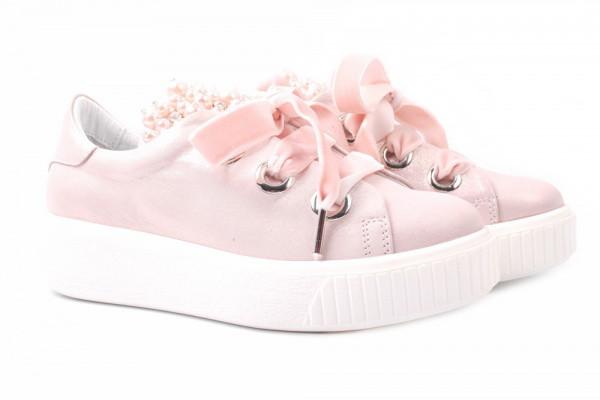 Туфли комфорт Alpino натуральный сатин, цвет розовый