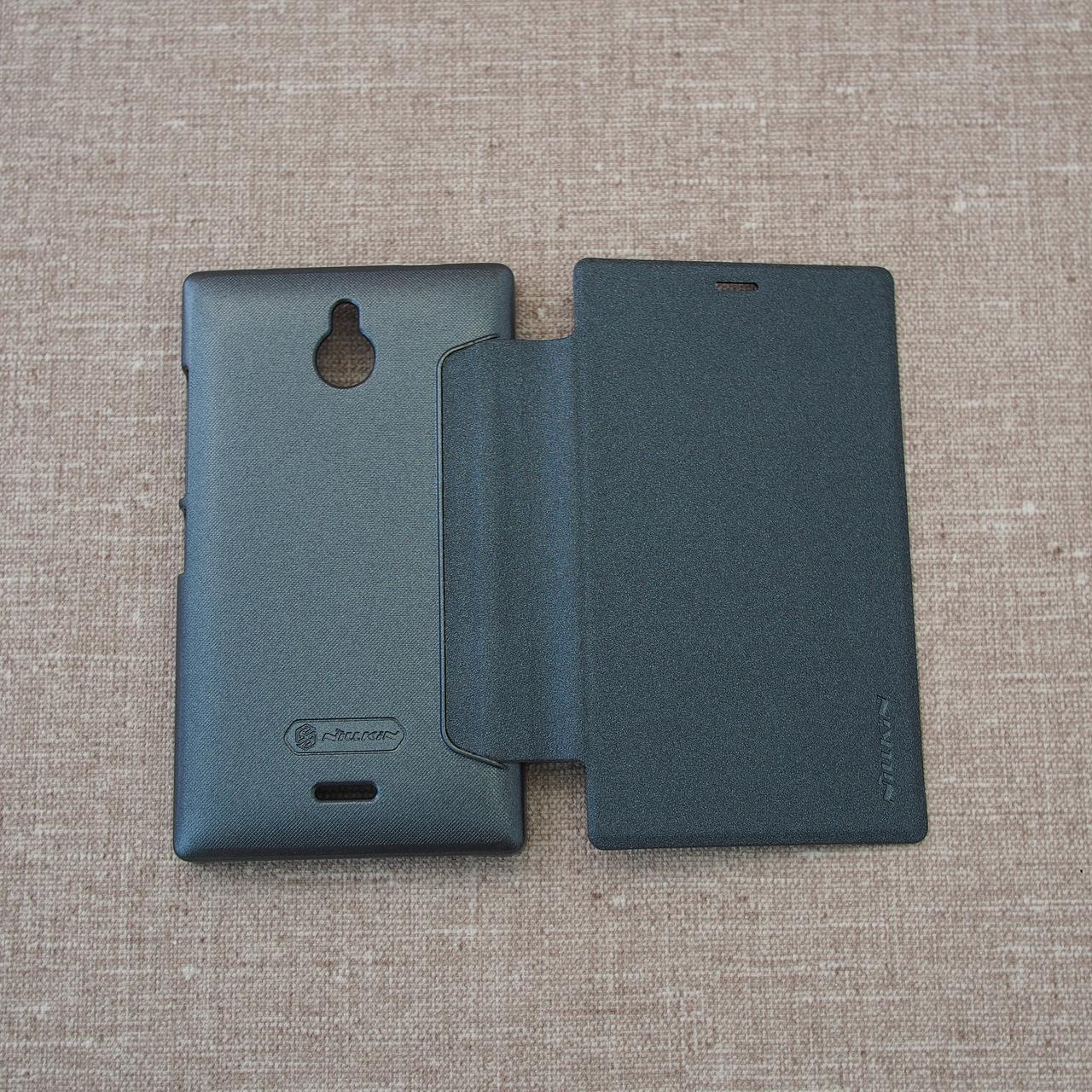 Чехол Nillkin Sparkle Nokia X2 black Для телефона