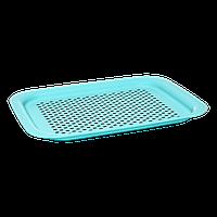 Поднос противоскользящее покрытие маленький бирюзовый, фото 1