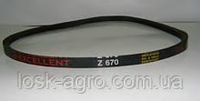 Ремінь приводний клиновий Z-670 Про-670