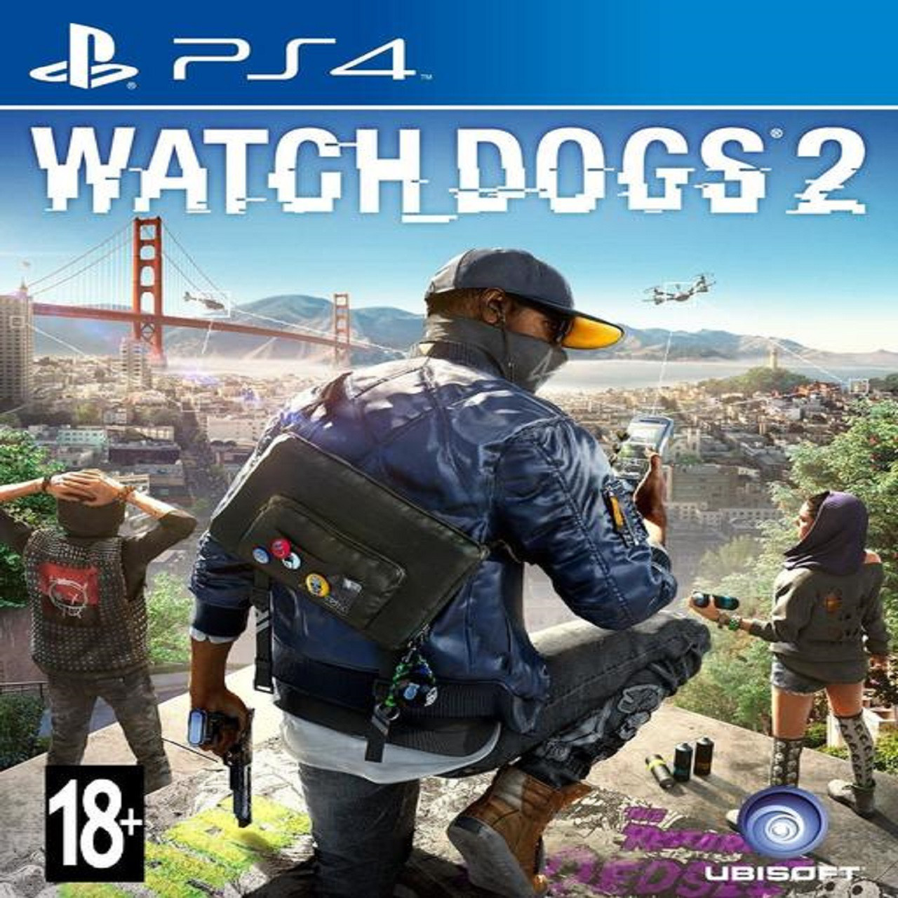 Watch Dogs 2 PS4 (английская версия) (Б/У)
