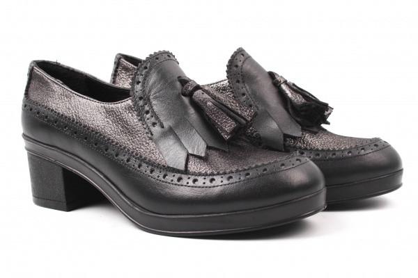 Туфли на каблуке Kesim натуральная кожа, цвет черный