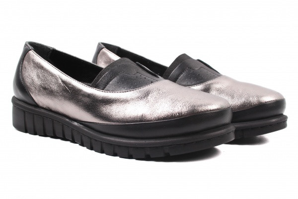 Туфли комфорт Kesim натуральная кожа, цвет серебро