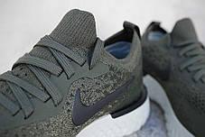 Женские кроссовки Nike Epic React Flyknit Olive AQ0070-300, Найк Эпик Реакт Флайнит, фото 2