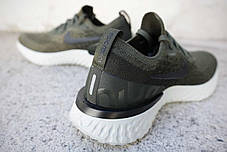 Мужские кроссовки Nike Epic React Flyknit Olive AQ0070-300, Найк Эпик Реакт Флайнит, фото 3