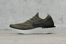 Мужские кроссовки Nike Epic React Flyknit Olive AQ0070-300, Найк Эпик Реакт Флайнит, фото 2