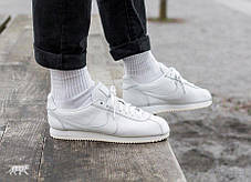 "Мужские кроссовки Nike Classic Cortez Leather ""All White"" 807471-102, Найк Кортез, фото 2"