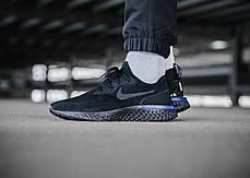 Женские кроссовки Nike Epic React Flyknit Black Blue AQ0067-004, Найк Эпик Реакт Флайнит, фото 3