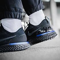 Мужские кроссовки Nike Epic React Flyknit Black Blue AQ0067-004, Найк Эпик Реакт Флайнит, фото 3
