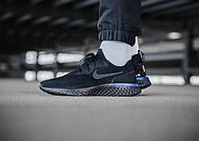 Мужские кроссовки Nike Epic React Flyknit Black Blue AQ0067-004, Найк Эпик Реакт Флайнит, фото 2