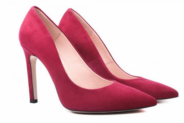 Лодочки Bravo Moda натуральная замша, цвет бордо
