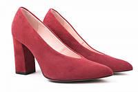 Туфли на каблуке Bravo Moda натуральная замша, цвет бордо
