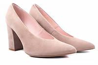 Туфли на каблуке Bravo Moda натуральная замша, цвет бежевый