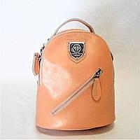 Чудесный женский рюкзак из натуральной кожи розового цвета EСW-040658, фото 1