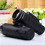 Мощный монокуляр 40x60 с чехлом, треногой и клипсой для смартфона, фото 8