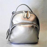 Чудесный женский рюкзак из натуральной кожи серебристого цвета EDE-097001, фото 1