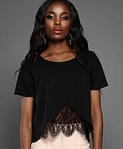 Женская блузка с кружевом по низу (Силия jd), фото 3
