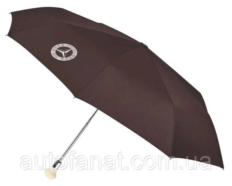 Оригинальный складной зонт Mercedes 300 SL Compact Umbrella, Brown / Silver (B66041533)