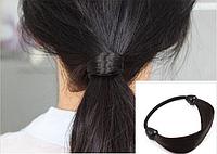"""Женская резинка для волос, аксессуар для прически """"конский хвост"""", резинка из волос, цвет - черный"""