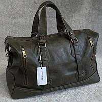 Мужская сумка David Jones, дорожная сумка для командировок, вместительная сумка для поездок, кожаная сумка