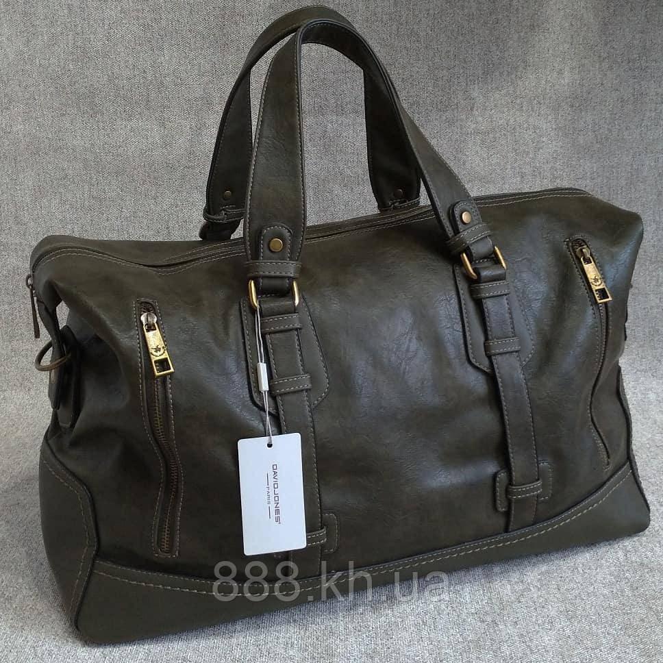 3f48a4b8a34c Мужская сумка David Jones, дорожная сумка для командировок, вместительная  сумка для поездок, кожаная