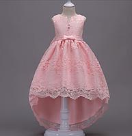 Платье нежно-розовое бальное выпускное нарядное для девочки в садик или школу, фото 1