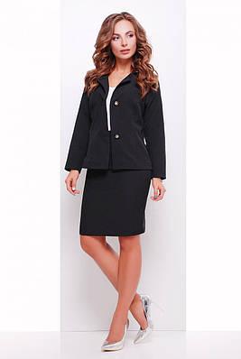 Деловая черная юбка