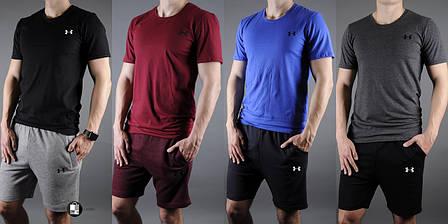 8fb9c4da55cf Мужской спортивный комплект (футболка+шорты) в стиле Under Armour 24 вида в  наличии