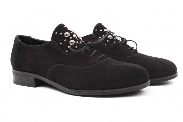 Туфли комфорт Guero натуральная замша, цвет черный