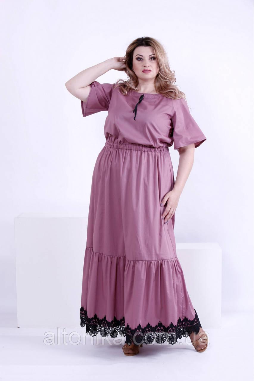 Женское платье с кружевом в пол | 42-74
