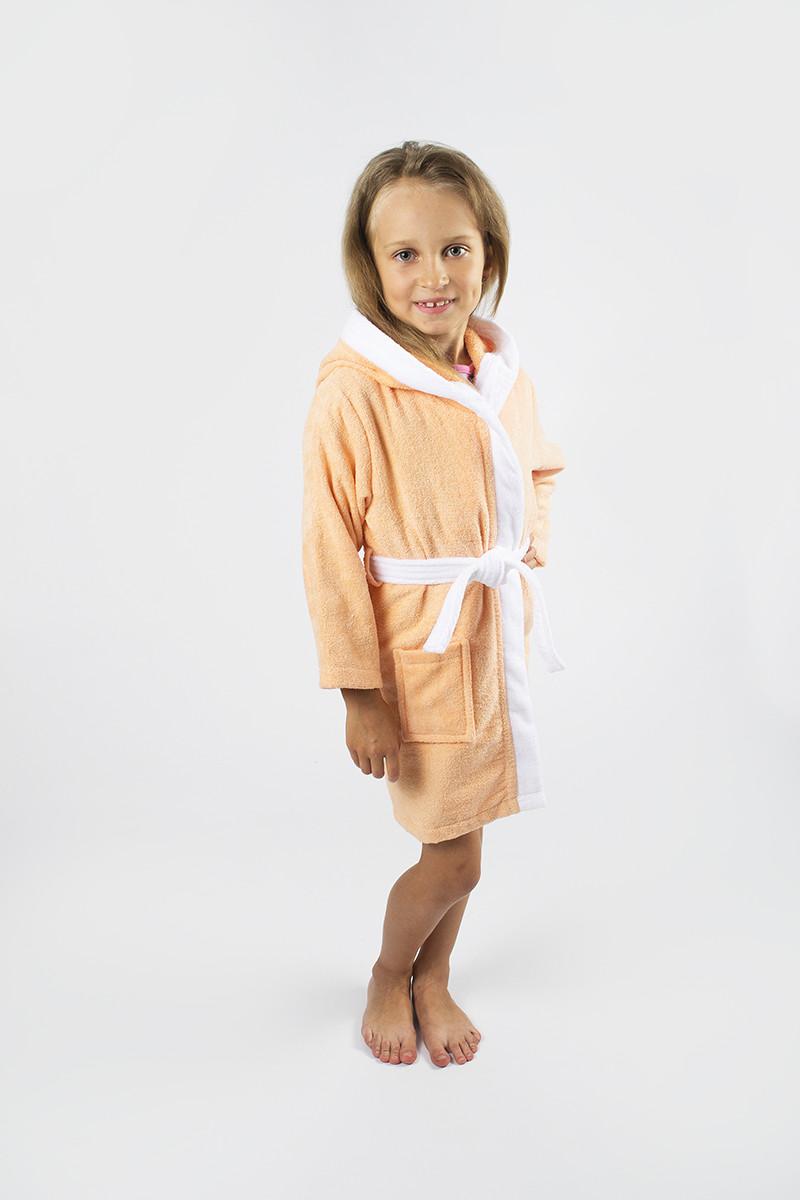 Халат детский Lotus - Зайка 6-8 лет персиковый