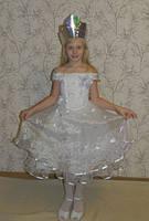 Новогодний  карнавальный костюм  Снежная Королева для девочки на прокат, Киев, фото 1