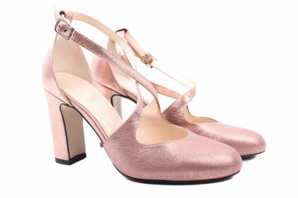 Туфли на каблуке Kotyl натуральная замша, цвет золотистый