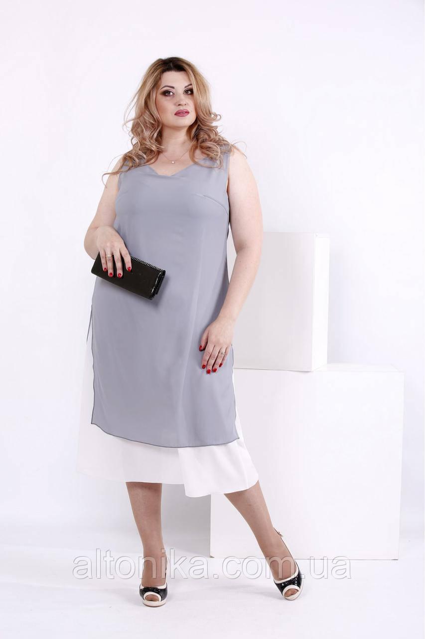 Женское повседневное платье из креп-шифона | 42-74