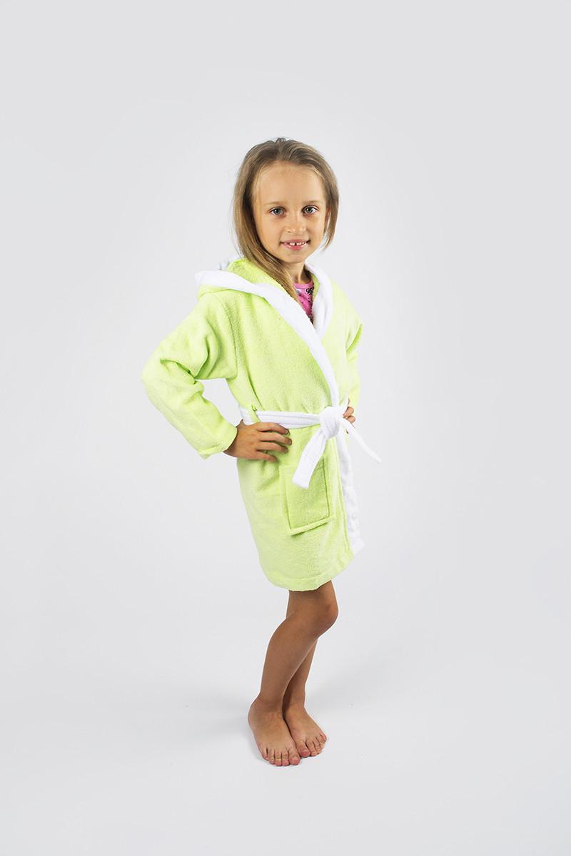 Халат детский Lotus - Зайка 6-8 лет салатовый