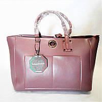 Практичная женская сумочка из кожи темно-розового цвета LNQ-010099, фото 1