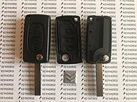 Корпус выкидного ключа для Citroen C1, C2, С3, С4, Jumpy (Ситроен Джампи) 3 - кнопки, батарейка на плате