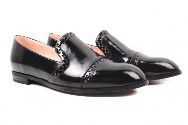 Туфли комфорт Lady Marcia лаковая натуральная кожа, цвет черный
