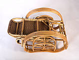 Шезлонг плетений з натурального ротанга Одіссей, фото 3