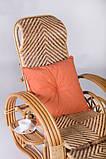 Шезлонг плетений з натурального ротанга Одіссей, фото 4