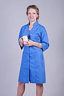 Женский медицинский халат синий  44-66
