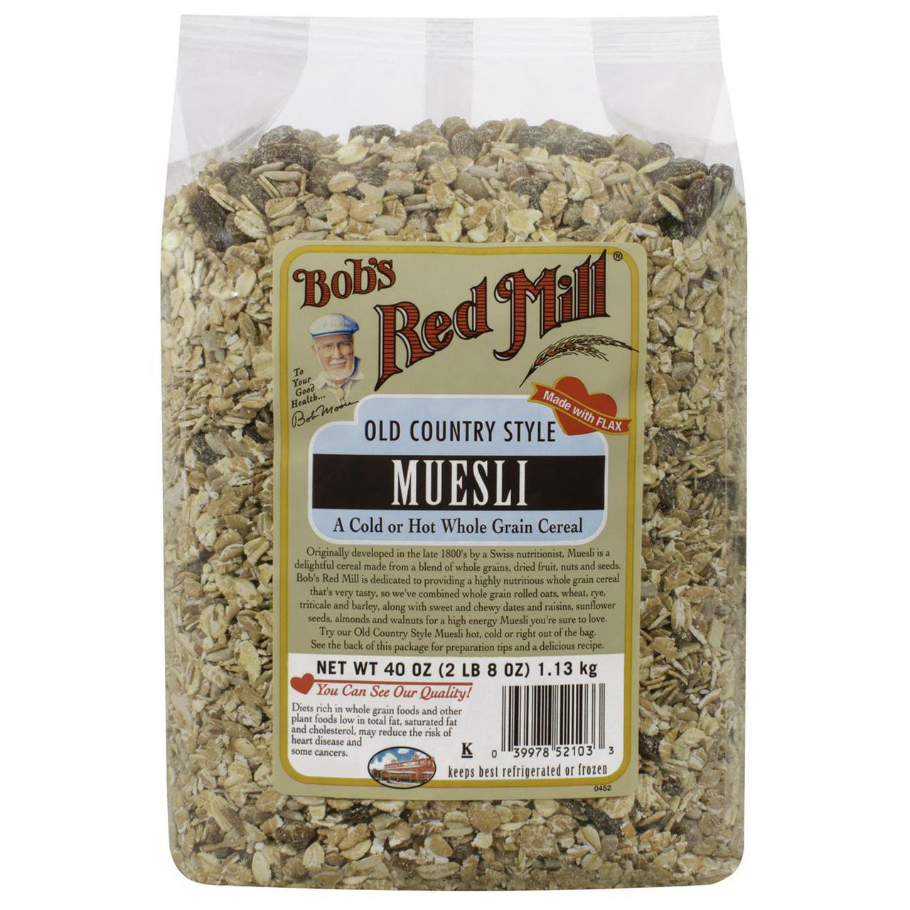 Bobs Red Mill, Мюсли в стародеревенском стиле, 40 унций (1.13 кг)