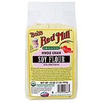 Bobs Red Mill, Органическая соевая мука из цельного зерна 16 унции (453 г)
