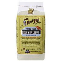 Bobs Red Mill, Цельнозерновая органическая мука из коричневого риса, 24 унции (680 г)